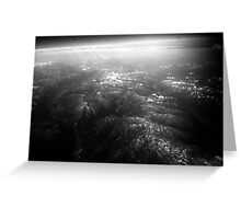 Mountains from the stratosphere Greeting Card