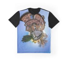 Mont Sainte Odile little planet . Curvature of space effect. Touristic concept. Graphic T-Shirt