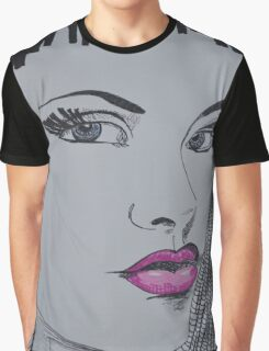 Pretty In Pink Lips Graphic T-Shirt