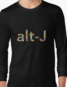 Alt J Paint Splatter Long Sleeve T-Shirt
