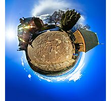 Mont Sainte Odile little planet . Curvature of space effect. Touristic concept. Photographic Print