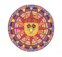 Mandala Face Sad Sack Sun Photographic Print