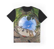 Chapelle Sainte Sebastien little planet. Curvature of space. Touristic concept. Graphic T-Shirt