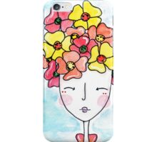 Poppy Hair Girl iPhone Case/Skin
