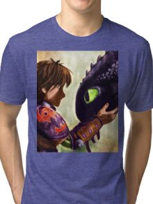 How to Train Your Dragon - Hiccup and Toothless Tri-blend T-Shirt