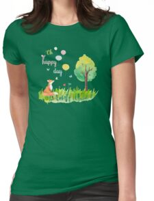 Oh happy day Womens Fitted T-Shirt