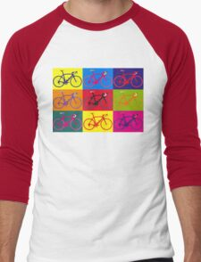 Bike Andy Warhol Pop Art Men's Baseball ¾ T-Shirt