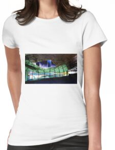 The Crumpled Building Barcelona Womens Fitted T-Shirt