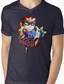 YES! Mens V-Neck T-Shirt