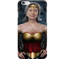 Hillary Wonder Woman iPhone Case/Skin