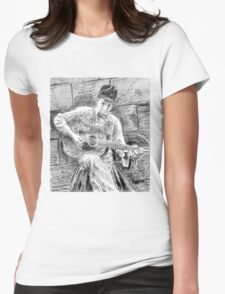 PORTRAIT OF BOB DYLAN Womens Fitted T-Shirt