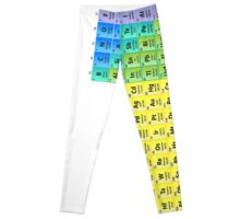 Detailed Periodic Table of the Elements Leggings