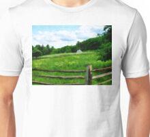 Field Near Weathered Barn Unisex T-Shirt