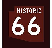 US Historic 66 Sign, Arizona Photographic Print