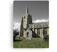 Green & Beige Tones, St Mary's, Bramford Canvas Print