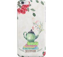 Books & Tea Watercolor iPhone Case/Skin