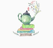 Books & Tea Watercolor Unisex T-Shirt