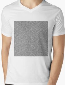 White Noise Mens V-Neck T-Shirt