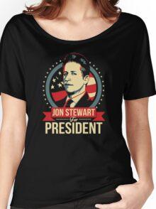 jon stewart president Women's Relaxed Fit T-Shirt