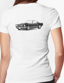 American sport car, V8, Muscle Car, Motor Car, Black, US, USA, American Womens Fitted T-Shirt