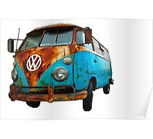 VW Bus Rusted Poster