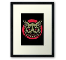 Evil Dirty Zombie Cat Framed Print