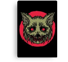 Evil Dirty Zombie Cat Canvas Print