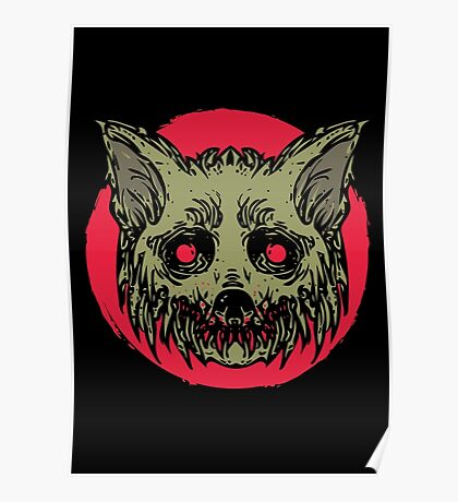Evil Dirty Zombie Cat Poster