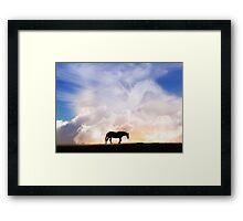 Gaurdian Angel Pegasus and Horse Framed Print