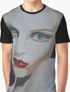 Painting of Woman/ Blue Eyed Charmer Graphic T-Shirt