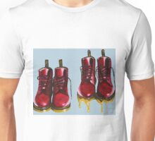 Surrealism Red Boots  Unisex T-Shirt
