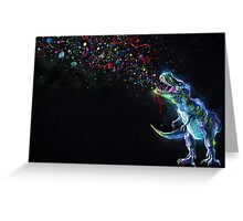 Crystal T-Rex Greeting Card