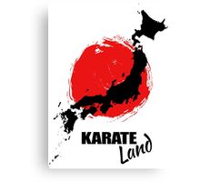 Karate Land - Japanese martial Art Canvas Print