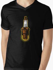 Sparkplug - turquoise & black Mens V-Neck T-Shirt
