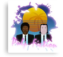 80s Inspired Pulp Fiction Canvas Print