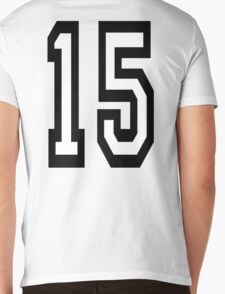 15, TEAM SPORTS, NUMBER 15, FIFTEEN, FIFTEENTH, Competition,  Mens V-Neck T-Shirt
