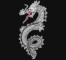 Dragon, Snake, Oriental, Far East, on Black Unisex T-Shirt
