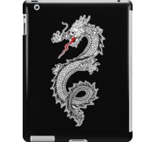 Dragon, Snake, Tattoo, Symbol, Chinese, Oriental, Far East, on Black iPad Case/Skin