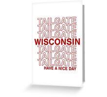 Wisco Tailgate Greeting Card