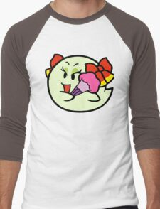 Paper Mario Lady Bow Boo Men's Baseball ¾ T-Shirt