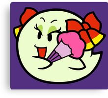 Paper Mario Lady Bow Boo Canvas Print