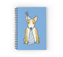 Party Hat Puppy Dog - English Bull Terrier Spiral Notebook