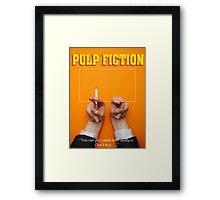 Minimalist Tarantino- Pulp Fiction Framed Print