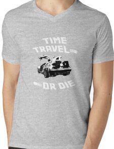 Time Travel Or Die is Back! Mens V-Neck T-Shirt