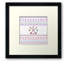 Boho Typogrpahy Tribal Aztec Feather Arrow Pattern Framed Print