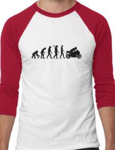 Evolution motorcycle Men's Baseball ¾ T-Shirt