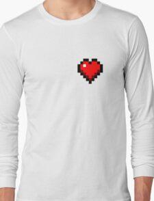 Minecraft Heart Long Sleeve T-Shirt
