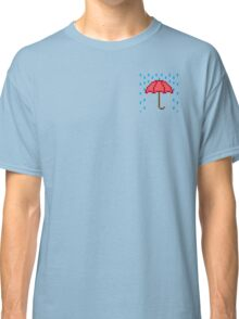 Pixel Umbrella Icon - Pocket Classic T-Shirt