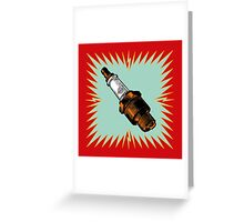 Sparkplug - red & blue Greeting Card