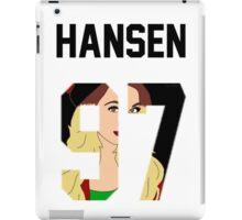 """Hansen'97 """"Face"""" Jersey iPad Case/Skin"""